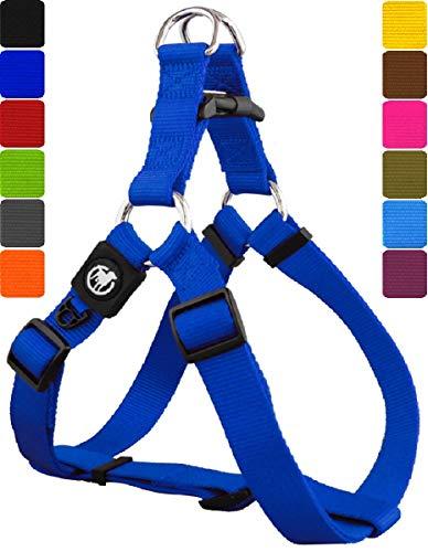 DDOXX Pettorina Cane Step-in Nylon, Regolabile | Tanti Colori e Taglie | per Cani Piccoli Medi e Grandi | Imbracatura Cani, Gatti, Cuccioli, Gatto Taglia Piccola Media Grande | Blu, XS