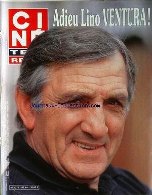 CINE TELE REVUE [No 44] du 29/10/1987 - ADIEU A LINO VENTURA