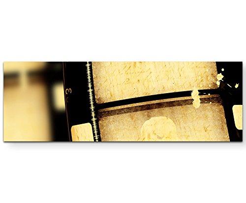 Fotografie – alte Filmrolle 16mm - Panoramabild auf Leinwand in 150x50cm (Vintage Filmrolle)