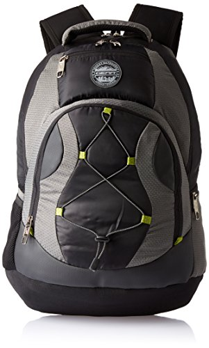 Gear Urban Terrain 32 ltrs Black, Grey and Green Laptop Backpack (LBP00UBT50103)