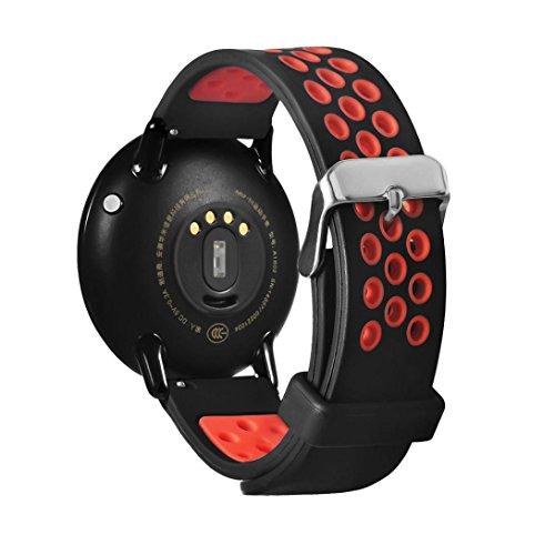 Correa de repuesto para reloj inteligente Xiaomi Huami Amazfit A1602, Y56, 21 cm, liviana, de silicona, rojo