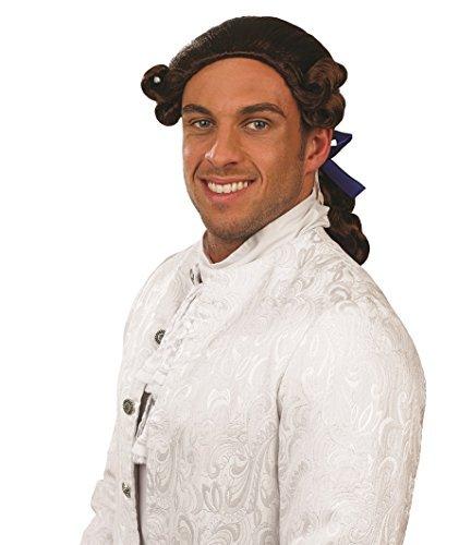 Herren Braun Prince Charming Perücke Kostüm Märchen Outfit ()