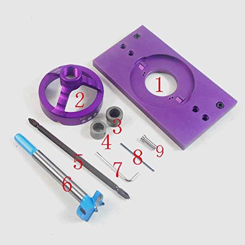 Neue Aluminiumlegierung 35 MM Cup Stil Verdeckte Scharnier Jig Drill Guide Set Tür Bohrloch Vorlage w/Bit (Tür-scharnier Jig)