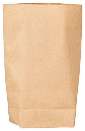 50x itenga Kraftpapiertüten Geschenktüten Bodenbeutel Kraftpapierbeutel 16,5 x 23cm z.B für Adventskalender, Ostern, Bastel Geschenke Kommunion Hochzeit