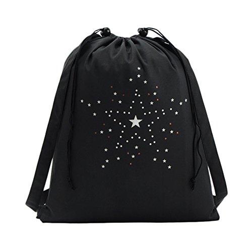 Leisial Bolso de Mujer con Cordón Lona Mochila Backpack Deporte Ocio Bolso de Viaje para Chicas...
