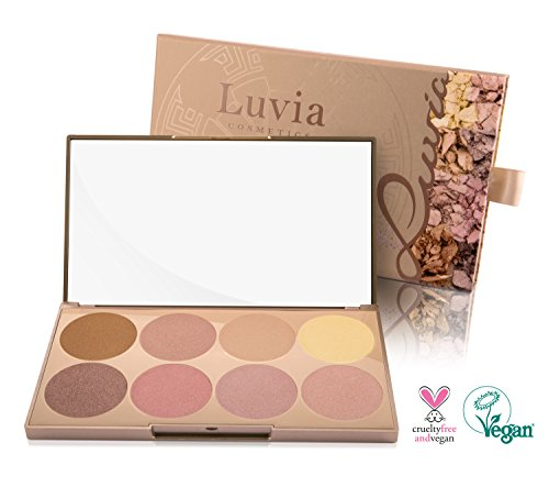 Luvia Cosmetics - Highlighter Palette - Prime Glow Mit Extra Feiner Schimmer Und Easy To Blend...