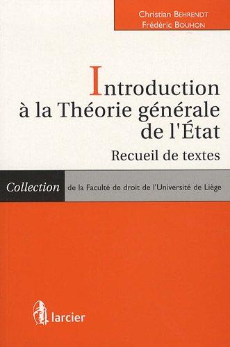 Introduction à la Théorie générale de l'tat