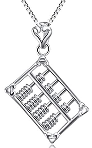 SaySure - 925 Sterling Silver Abacus Pendant