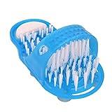 1 STÜCKE Dusche Fuß Füße Reiniger Scrubber Waschmaschine Fuß Gesundheits Haushalt Badezimmer Stein Massager Pantoffel Blau