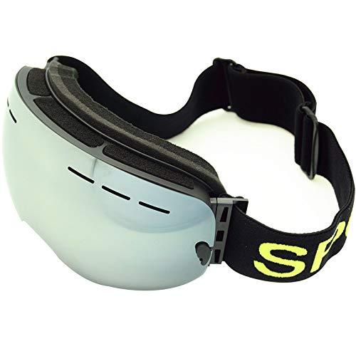 Easy Go Shopping Skibrillen - Überbrillen Ski- / Snowboardbrillen Für Herren, Damen Jugend - 100% UV-Schutz Sonnenbrillen und Flacher Spiegel (Farbe : Transparent Film)