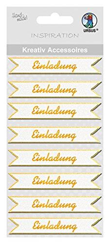 Ursus 564000144 - Kreativ Accessoires, Einladung, 8 Stück, gold