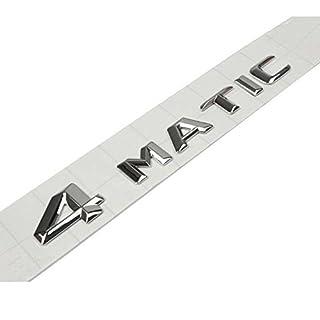 Original Größe Car Logo Silber Badge Aufkleber Emblem Auto Aufkleber für AMG Aufkleber 4 MATIC hinten Marker (3D-4 MATIC)