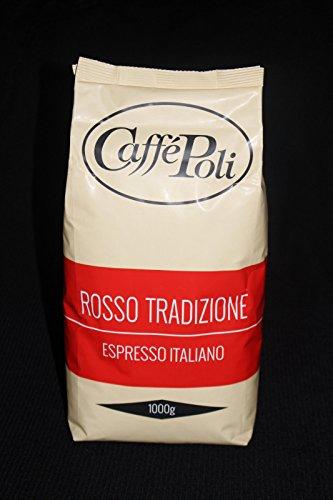 Preisvergleich Produktbild Poli Espresso - BAR Rosso Tradizione, Bohnen - 6 x 1 kg Karton, Kaffee