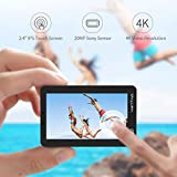 VanTop Moment 4 4K 20MP 30M Waterproof Action Camera with Touch Screen, Remote, EIS, Kingston MicroSD Card, Lightweight Backpack, 2 Rechargeable Batteries, GoPro Accessories Kit