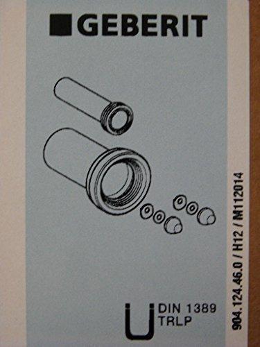 Geberit WC - Anschlussset DN 110 Abdeckkappen matt-verchromt