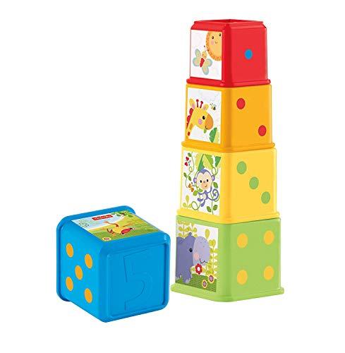 Fisher-Price Bloques apila y descubre, juguete bebé Mattel CDC52