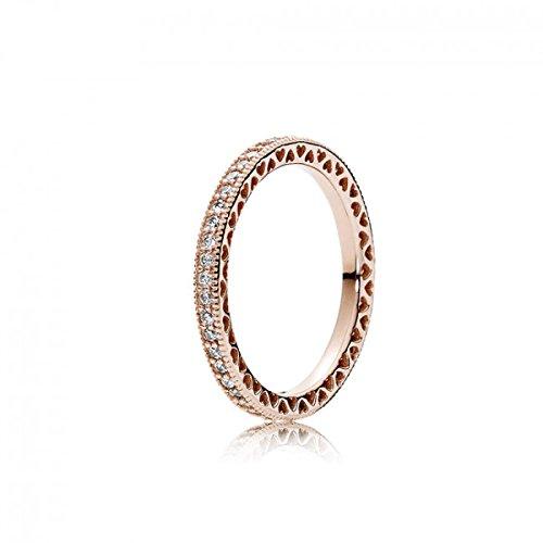 PANDORA Ring für Damen Unendliche Herzen Rosé Ringgröße 50/15,9 180963CZ-50
