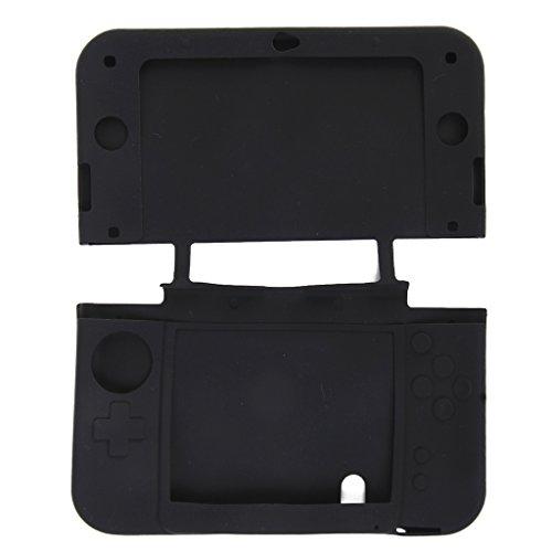 Xl 3ds Protector Skin Nintendo (Silikon Tasche Case Schutzhuelle Skin Huelle fuer New Nintendo 3DS LL/XL Schwarz)
