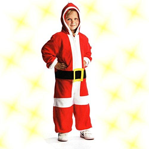 Kinder Weihnachts Kostüm Overall Weihnachtsmann Nikolaus 3-5 Jahre Santa Claus