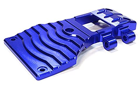 Integy RC Model Hop-ups C25985BLUE Billet Machined Lower Front Arm Mount Skid Plate for Tamiya Scale Off-Road