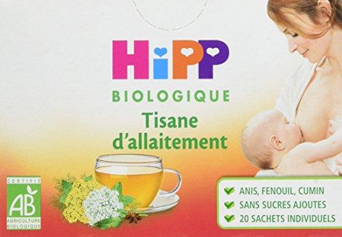 Hipp Biologique Tisane d'allaitement pour Maman - 6 boîtes de 20 Sachets