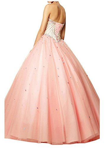 angeldragon Lovely Perles Boule Princesse robes Tulle Robe quninceanera Custom Made Colour