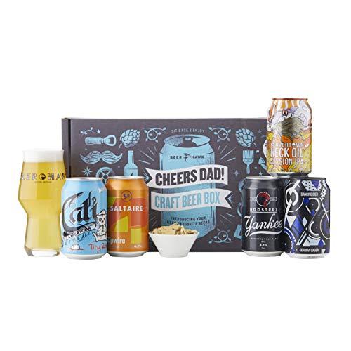 Beer Hawk Cheers Dad Craft Beer Box Gift Set - Perfect Beer Gift Hamper