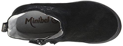 Minibel Ludique, Bottes Classiques Fille Noir (68 Noir/Noir Argent)