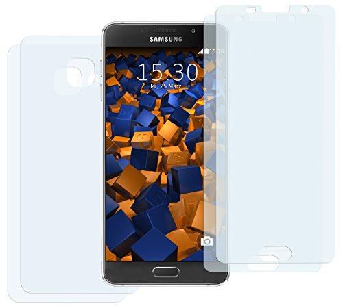 4 x mumbi Schutzfolie Samsung Galaxy A5 (2016) 2x VORNE und 2x RÜCK Folie - bewusst kleiner als das Display, da dieses gewölbt ist