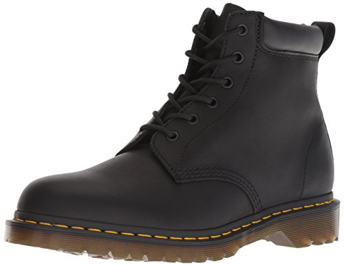 Black Greasy Leather Boot (Dr.Martens Unisex 939 Ben Boot Greasy Leather Black Stiefel 42 EU)