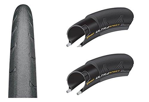 2x Continental - Rennrad Reifen 28 Zoll | Ultra Sport II | 23-622 | 700x23C | Drahtreifen