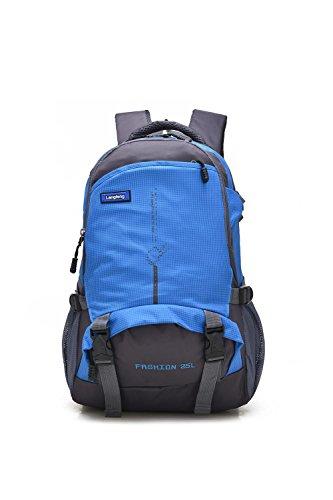 25L Small Bergsteigen Rucksack Outdoor Multifunktion Erholung Portable Pack Klettern Reisen Wandern ritt Tasche leisure Pack für Männer und Frauen 6Colors H48 x W33 x T18 CM Blue