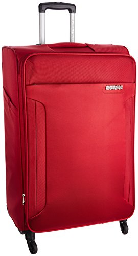 American Tourister Polyester 79 cms Ruby Red Suitcase (AMT Troy SP 79 Ruby RED)