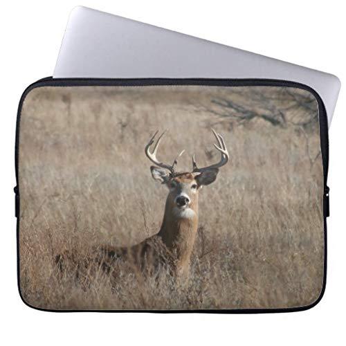 Big Trophy Buck Deer Camo Trendy Laptop Sleeve Computer Case 17 17.3 Inch Gifts for Women Water Proof Netbook Case -