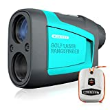MiLESEEY PRO Telemetro da Golf 600M, Telemetro Laser di Precisione con Binocolo, Ingrandimento X6 Impermeabile - per Caccia, Tiro con L'Arco, Golf
