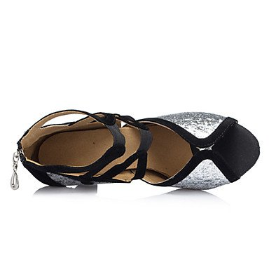 Chaussures De Danse - Personnalisable - Pour Femme - Danse Latino-américaine / Jazz / Salsa / Samba / Chaussures De Swing - Talon Personnalisé - Argent