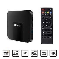 LHTC 4K Mini TV Box, Android 7.1 Smart TV Box , Quad Core 2GB/16GB 4k Ultra HD KODI 17.3 Wifi Smart Streaming Media Players,Support 4K Video Devoding and Playback,3D Games