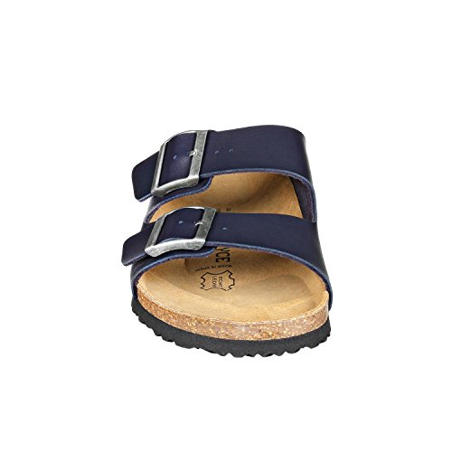 JOE n JOYCE Unisex London Synsoft Soft Fußbett Sandalen Schmal Blue