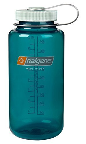 Nalgene BPA Free Tritan Wide Mouth Water Bottle, 1-Quart, Trout Green - 2 Count by Nalgene