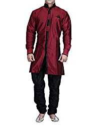 Royal Mens Silk Blend Sherwani (ROYAL_236_Maroon _X-Large)