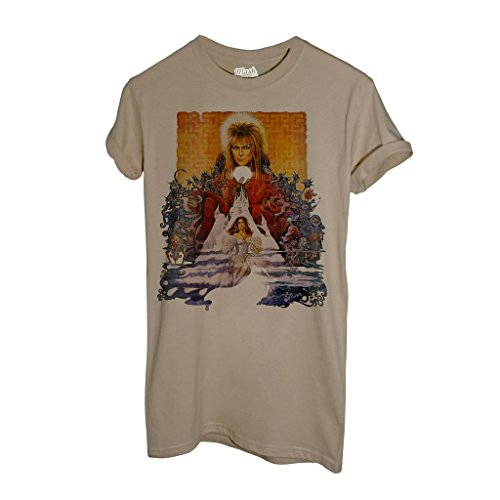 T-Shirt LABYRINTH DAVID BOWIE LOCANDINA - MUSIC by iMage Dress Your Style - Donna-S-SABBIA