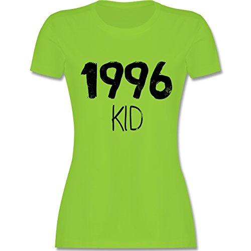 Geburtstag - 1996 KID - tailliertes Premium T-Shirt mit Rundhalsausschnitt für Damen Hellgrün