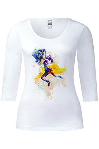 Klettern Ladies 3/4 Arm Designer Shirt Sleeve Stretch Tee Long Sleeve (Kollektion Tee Long Sleeve)