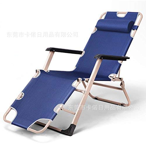 HhGold Klappliegender Einstellbarer Chaiselongue-Stuhl im Freien für Strand-Yard-Pool, 1 Pack (Farbe : 1 Pack) -