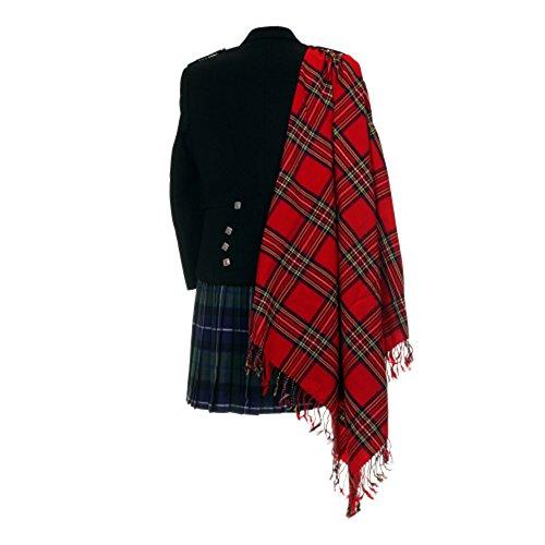 Schottische Tartan-plaid (Royal Stewart Tartan Purled Fransen Haushaltsplans Fly Scottish Tartan Plaid)