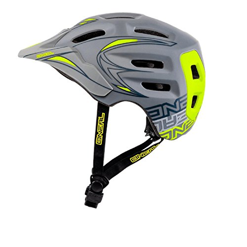 O'Neal Defender All Mountain Bike MTB Fahrrad Helm Grau Neon gelb S/M (56-59cm)