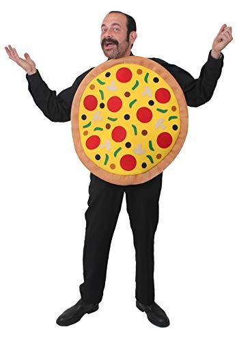 ILOVEFANCYDRESS 10 Pizza KOSTÜM VERKLEIDUNGEN = MIT Allen AUFLAGEN = 67cm Durchmesser = Unisex = Fasching Karneval = Jungesellenabschied Party