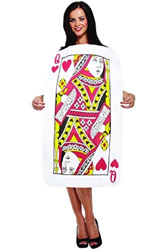 König Erwachsene Kostüm Herzen Der Für - Fancy Me Damen oder Herren König Königin der Herzen Alice im Wunderland Spielen Karten Deck Poker Junggesellinnenabschied Kostüm Kleid Outfit - Damen, One Size fits Most