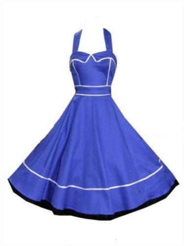 Pretty Kitty Fashion 50s Blue Swing Dress