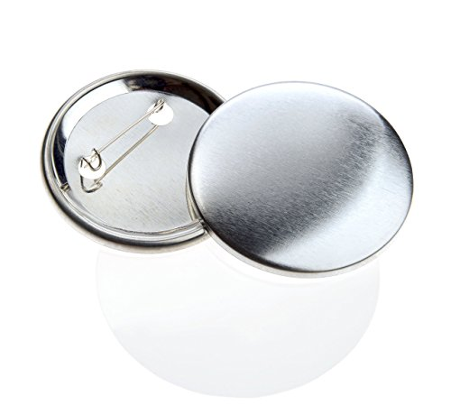 Buttonrohlinge 59mm (500 Stück) für Badgematic Buttonmaschine mit Sicherheitsnadel (Mais Sicherheit)